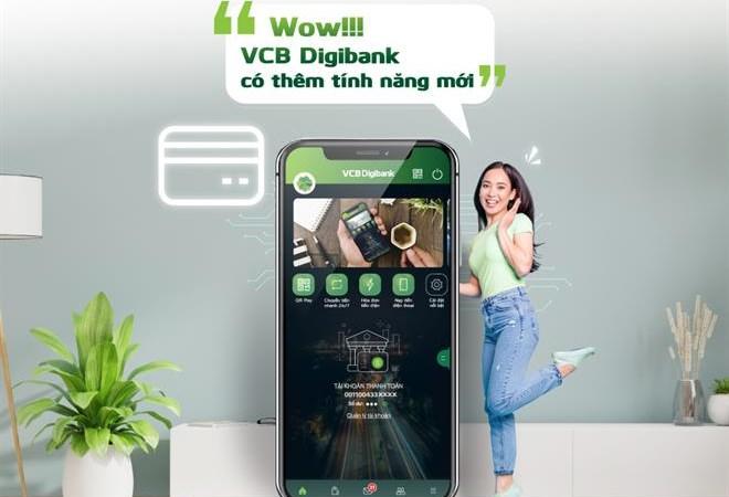 Vietcombank bổ sung thêm tính năng mới trên ngân hàng số VCB Digibank