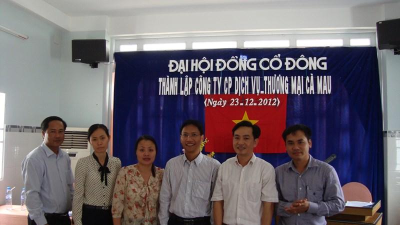 Đại hội cổ đông thành lập Công ty cổ phần Dịch vụ Thương mại Cà Mau