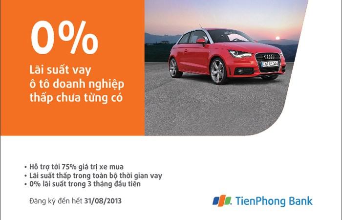 TienPhong Bank cho vay mua ô tô doanh nghiệp với lãi suất 0%