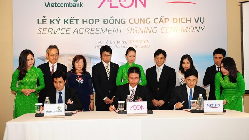 Vietcombank, Mizuho và Aeon Việt Nam hợp tác cung cấp dịch vụ