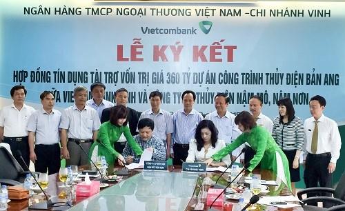 Vietcombank Vinh tài trợ vốn cho Dự án thủy điện tại Bắc Trung Bộ