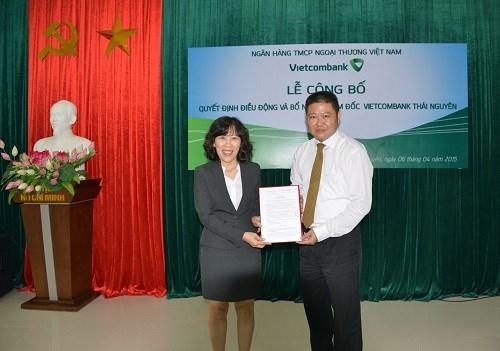 Vietcombank bổ nhiệm giám đốc chi nhánh Thái Nguyên