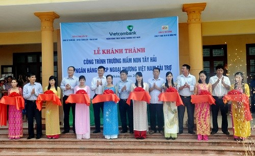 Vietcombank tài trợ 5 tỷ đồng xây dựng trường mầm non tại tỉnh Hà Nam