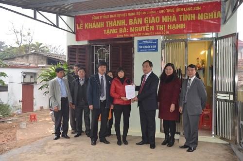 Công đoàn DATC trao tặng căn nhà tình nghĩa tại Lạng Sơn