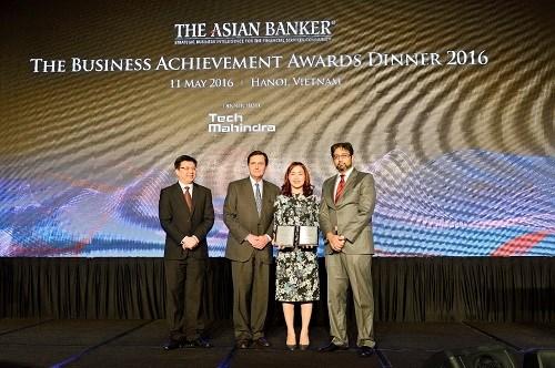 Vietcombank nhận ba giải thưởng của The Asian Banker