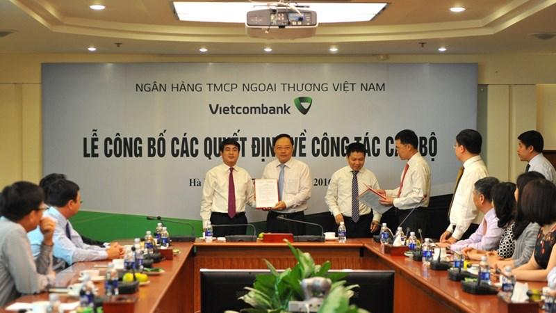 Vietcombank công bố các quyết định bổ nhiệm tại Trụ sở chính