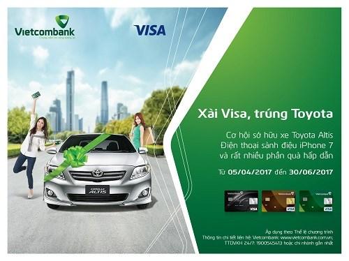 Cơ hội trúng thưởng lớn khi sử dụng dịch vụ của Vietcombank