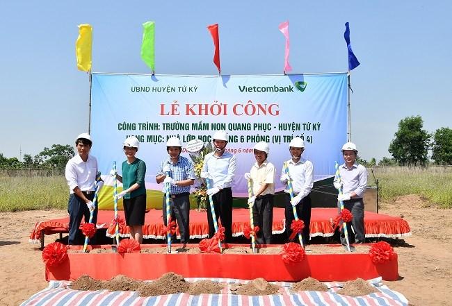 Vietcombank tài trợ xây trường học tại Hải Dương