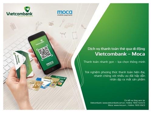 Ra mắt dịch vụ thanh toán thẻ qua di động Vietcombank - Moca