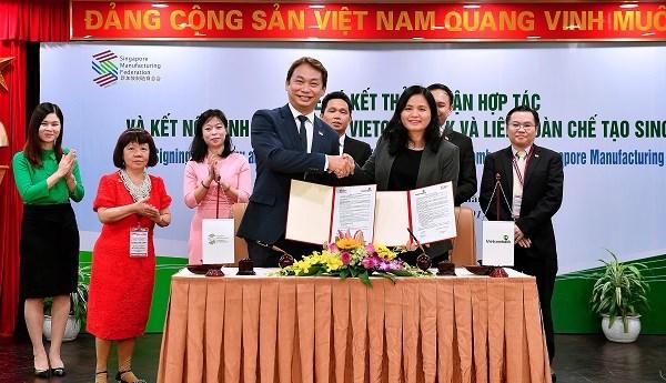 Vietcombank và Liên đoàn chế tạo Singapore ký kết thỏa thuận hợp tác toàn diện