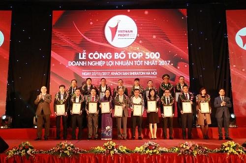 DATC nằm trong Top 500 doanh nghiệp lợi nhuận tốt nhất năm 2017