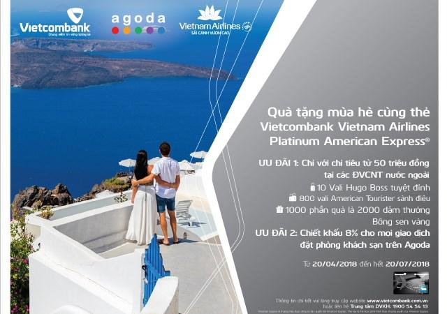 Ưu đãi hấp dẫn chủ thẻ Vietcombank Vietnam Airlines Platinum American Express®
