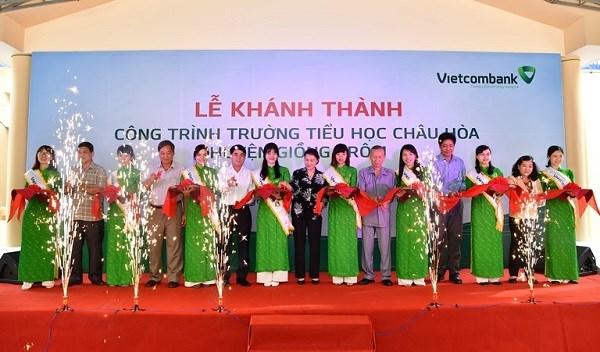 Vietcombank tài trợ xây trường học tại Bến Tre
