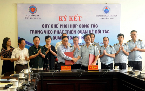 Cục Hải quan Quảng Ninh ký kết Quy chế phối hợp với Hiệp hội doanh nghiệp Tỉnh