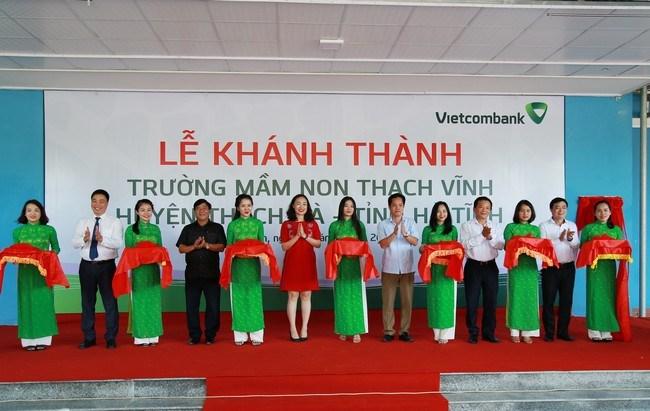 Vietcombank tài trợ 3,6 tỷ đồng xây trường học tại Hà Tĩnh