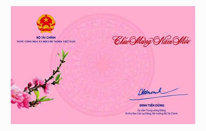 Bộ trưởng Đinh Tiến Dũng gửi Thư chúc mừng năm mới 2020