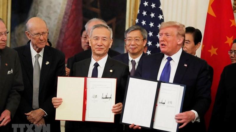 Thỏa thuận thương mại giai đoạn 1 với Mỹ giải quyết quan ngại hai nước