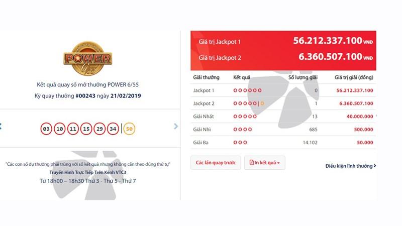 Một điểm bán Vietlott tại Sóc Trăng lần thứ 2 phát hành vé trúng Jackpot 2