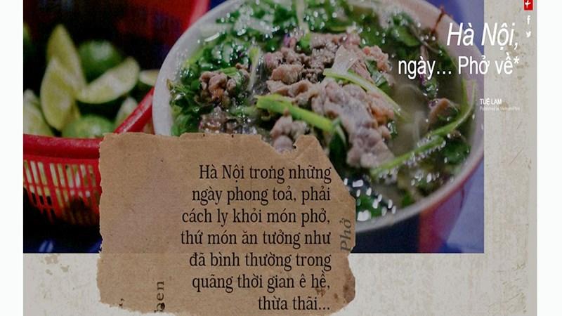 Hà Nội, ngày… Phở về
