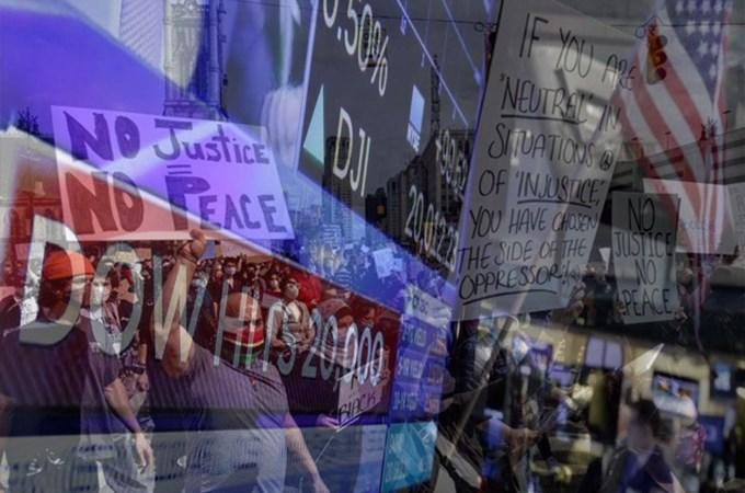 Bất chấp làn sóng biểu tình, Dow Jones vẫn tăng hơn 200 điểm