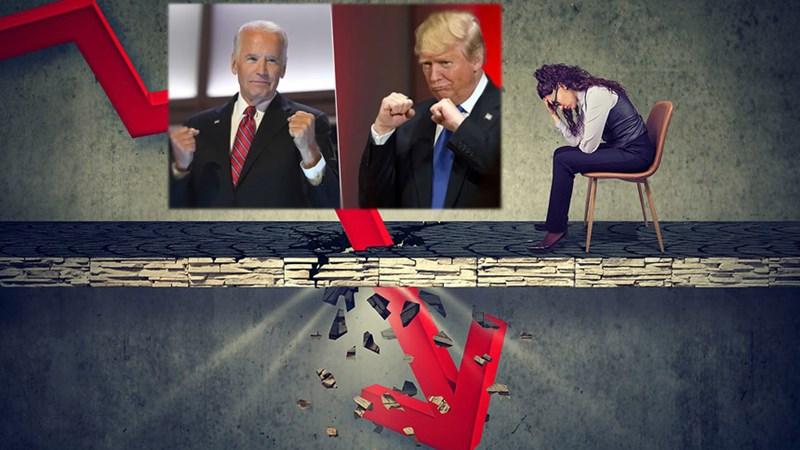 Lo sợ ông Trump thất cử, nhà đầu tư Mỹ đặt cược vào cú sell-off