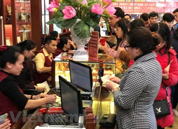 Giá vàng SJC đồng loạt đi xuống phiên mở cửa ngày đầu tuần