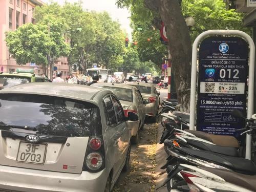 Hà Nội tiếp tục thí điểm dịch vụ tìm điểm trông giữ xe qua iparking
