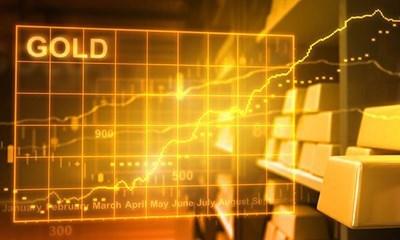 Vàng thế giới lên giá trong khi chỉ số chứng khoán đi xuống
