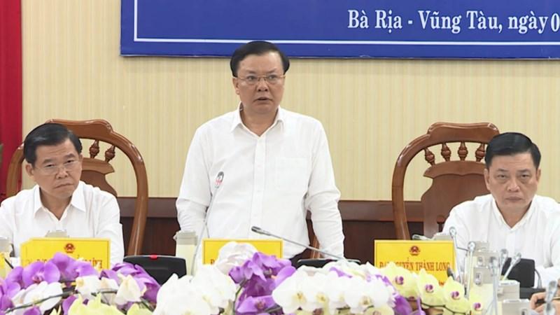 Bộ trưởng Đinh Tiến Dũng làm việc với tỉnh Bà Rịa - Vũng Tàu