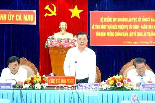 Bộ trưởng Đinh Tiến Dũng làm việc tại tỉnh Cà Mau