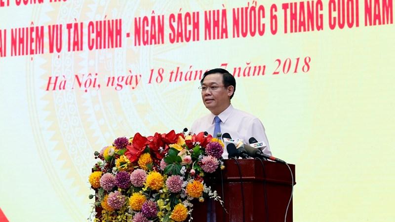 Chùm ảnh Hội nghị sơ kết công tác 6 tháng đầu năm, kế hoạch triển khai nhiệm vụ 6 tháng cuối năm 2018 của Bộ Tài chính