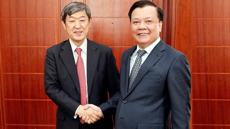 Bộ trưởng Đinh Tiến Dũng tiếp Chủ tịch JICA (Nhật Bản)