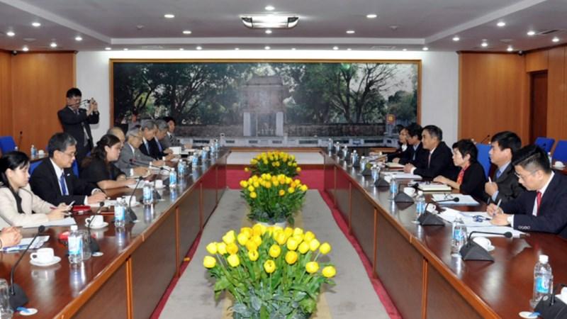 Thứ trưởng Trần Xuân Hà tiếp Đoàn công tác của Hiệp hội Xúc tiến Ngoại giao Nhân dân Nhật Bản