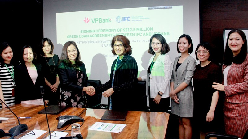 VPBank có thêm 212,5 triệu USD tín dụng xanh từ các tổ chức tài chính quốc tế