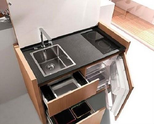 9 ý tưởng cải thiện không gian bếp nhỏ hẹp