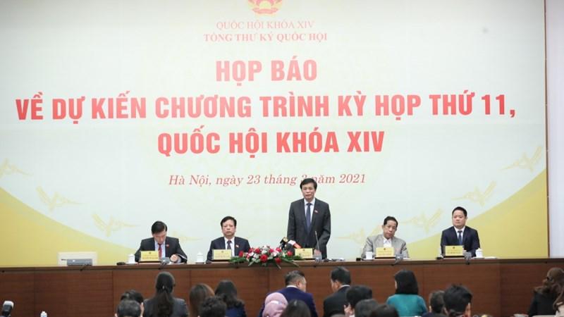 Kỳ họp thứ 11, Quốc hội khóa XIV sẽ dành nhiều thời gian để kiện toàn nhân sự lãnh đạo Nhà nước