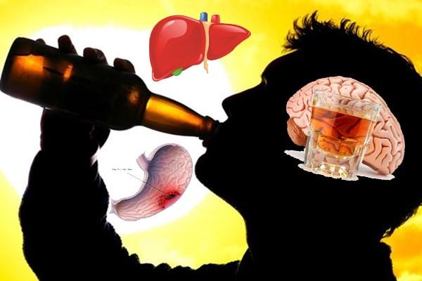 Khám phá hành trình tàn phá của rượu đối với cơ thể
