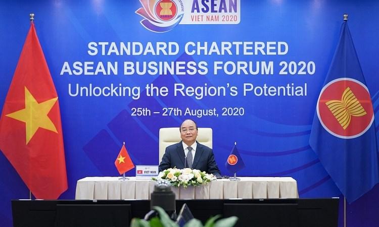 Thủ tướng Nguyễn Xuân Phúc khai mạc Diễn đàn Kinh doanh ASEAN 2020