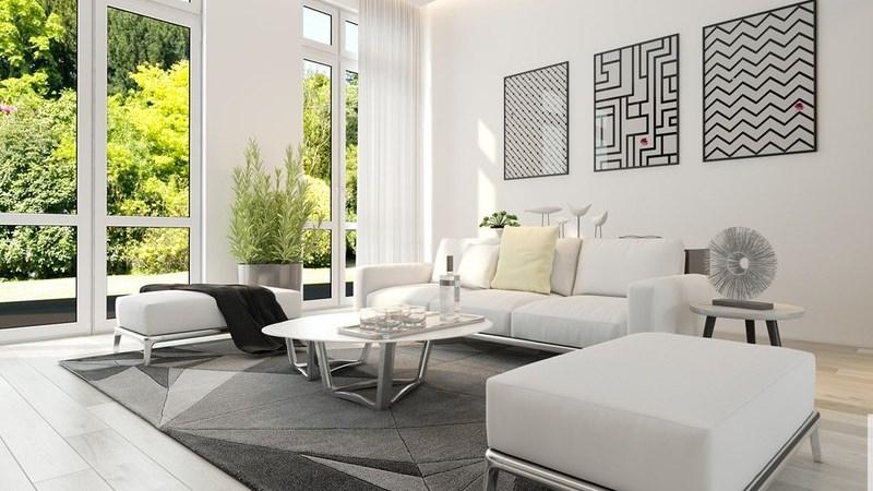 Ngôi nhà có nội thất hai màu đen trắng tuyệt đẹp