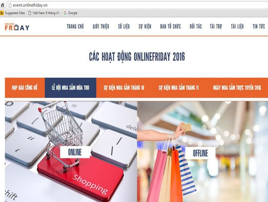 200.000 sản phẩm khuyến mại trong ngày mua sắm trực tuyến sắp tới