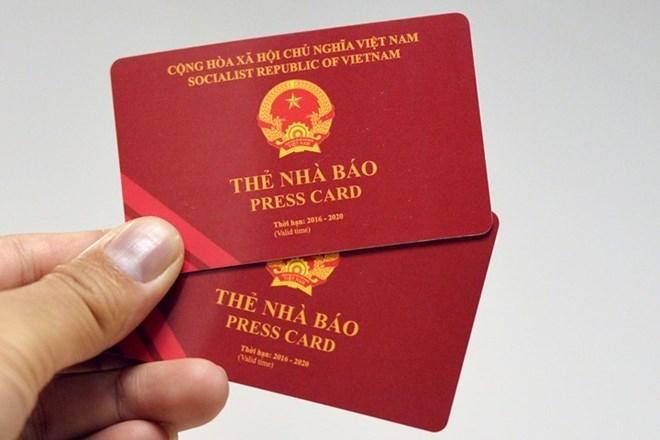 Quy định mới về cấp, đổi thẻ nhà báo