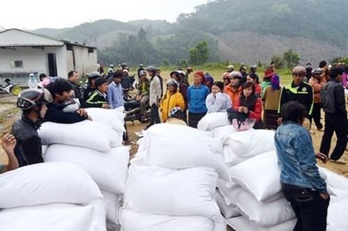 Xuất cấp 72 tấn gạo hỗ trợ người dân bị ảnh hưởng mưa lũ tỉnh Sơn La