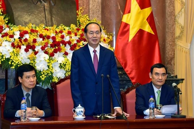 Chủ tịch nước gặp mặt các nhà tài trợ cho APEC
