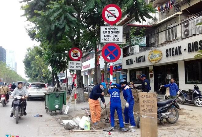Hà Nội cấm Uber, Grab theo giờ ở 13 tuyến phố