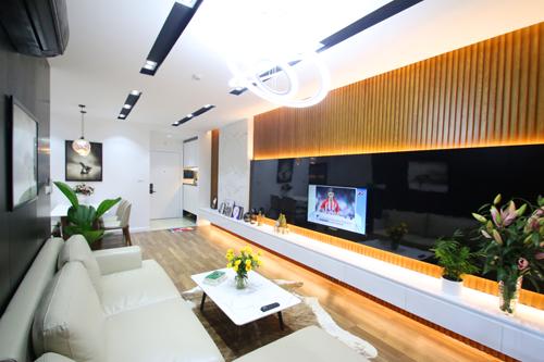 Thiết kế hiện đại với gam màu trung tính cho căn hộ 100m2