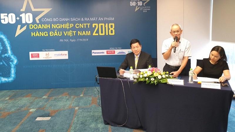 Công bố 50 doanh nghiệp công nghệ thông tin hàng đầu Việt Nam năm 2018