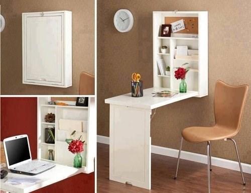 """Những mẫu bàn làm việc """"xinh lung linh"""" cho không gian nhỏ"""