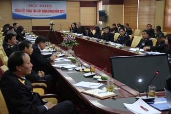 Hội nghị tổng kết công tác xây dựng Đảng năm 2012