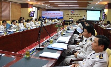 Hội nghị trực tuyến tổng kết hoạt động ngành Hải quan năm 2012