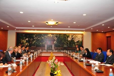 Thứ trưởng Trương Chí Trung tiếp và làm việc với đoàn công tác của Ngân hàng Thế giới